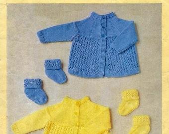 2cb916377 Download PDF - Vintage Knitting Pattern - Angel Tops Dresses Baby ...