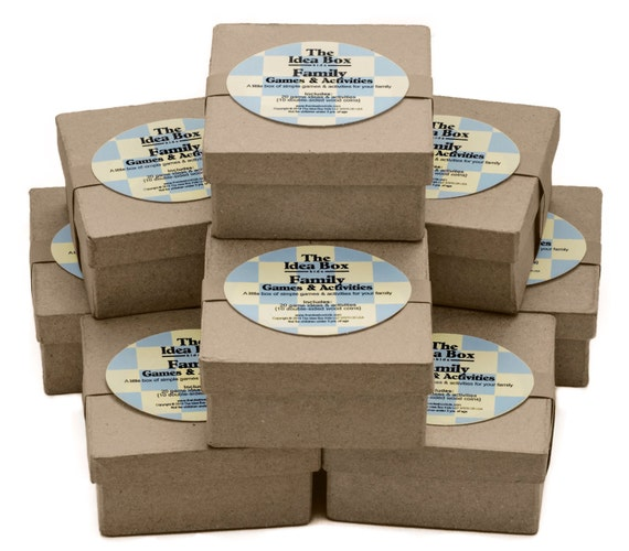 8 Mini Idea Boxes: Family Games & Activities, Family Game Night, Game Party Favor, Kids Party Favors, Party Favor, Family Reunion Kids Games