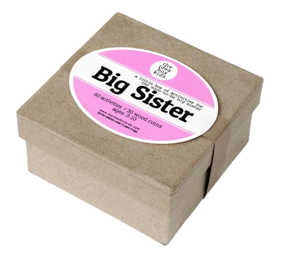 Big Sister Activities Gift For Big Sister By Theideaboxkids