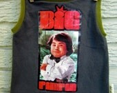 """3T Upcycled Tank Top / Muscle Shirt: """"Big Pimpin"""", Fantasy Island, Tattoo - Black Friday/Cyber Monday/Free Shipping /Gifts under 50"""