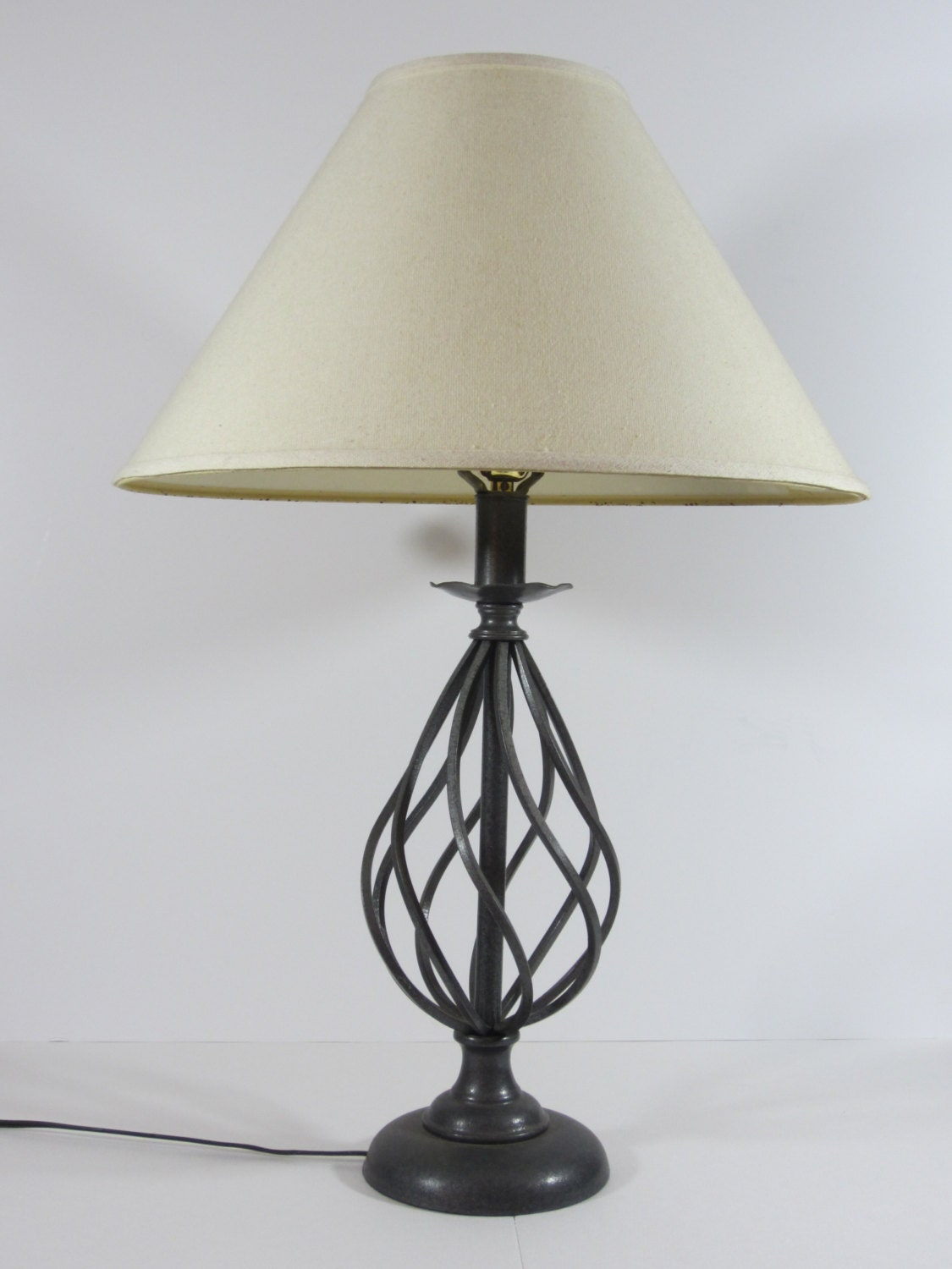 vintage wrought iron table lamp shade not included but. Black Bedroom Furniture Sets. Home Design Ideas