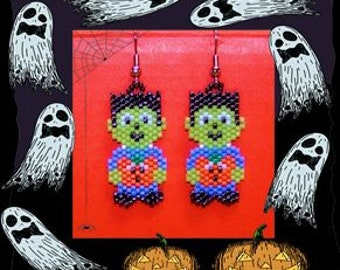 Young Frankenstein beaded earrings