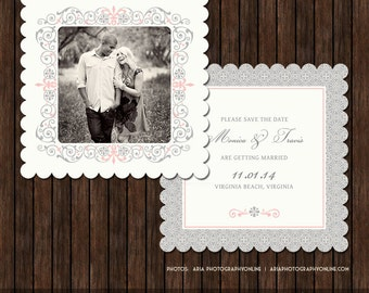 5x5 Luxe or Flat Save the Date Card Template - S9