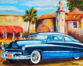 1949 Mercury Custom - FATHERS DAY GIFT - gift for dad - original acrylic painting