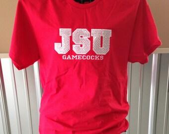 Custom Bling Appliqué T-Shirt - Team Mom - Bling Sparkle Number Applique - Personalized Embroidered - Custom Team Shirt