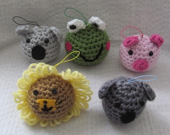 Ball animal charms