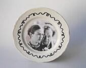 Frida Kahlo and Diego Rivera Art Plate