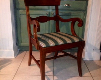 Vintage Cherry Wood Federal Arm Chair