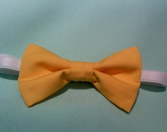 yellow mustard color little boys bow ties  Qty 1