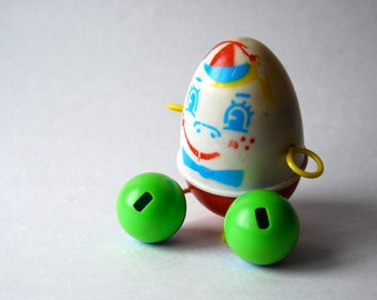 Vintage Humpty Dumpty Toy, Made in Hong Kong