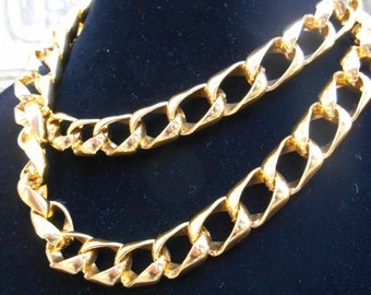 1970'S Anne Klein Double Chain Necklace