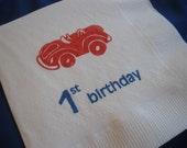 50 1st Birthday PAPER NAPKINS Race Car Birthday Party Decorations Kids Birthday Party Decorations Happy Birthday Boys Decor Custom Napkins