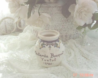 French Mustard Pot Vintage