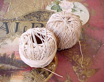 2 Skeins of Vintage Ecru Colored Crochet Thread-Many Uses for This