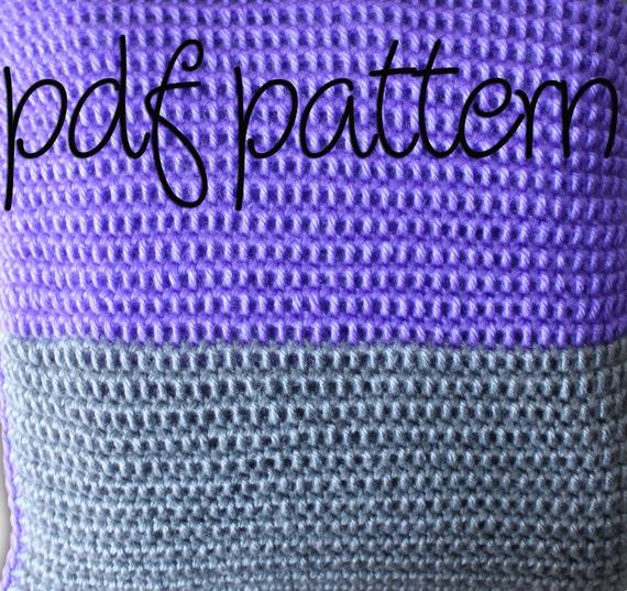 PDF Crochet Pattern - Beginner Easy -  Striped Afghan Blanket Throw