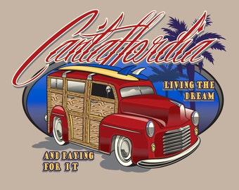 California Tee Funny Cali Shirt Cantaffordia Mens Large Womens Medium Hollywood Tshirt Los Angeles T Shirt Woody Hot Rod XL 2XL 3XL T-Shirt