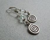 AAA Aquamarine Earrings: Pale Blue Gemstones- Hill Tribe Silver- March Birthstone- Birthstone Earrings