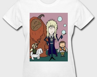 Women's Beanland T-SHIRT - LABYRINTH DESIGN - David Bowie T-Shirt