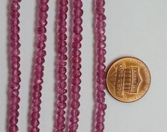 Mystic Pink Quartz Rondelle Faceted