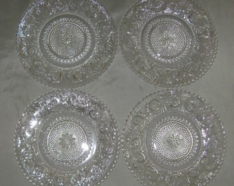 "Duncan & Miller no. 41 Sandwich 7"" Dessert Plates (Set of Four) in Excellent Lightly-Used Condition"