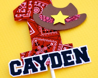 Custom Cowboy Cake Topper - Personalized
