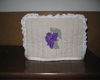 2 Slice Toaster Cover Grapes Design