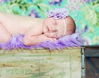 Lilac Chiffon Rhinestone Headband Photography Prop