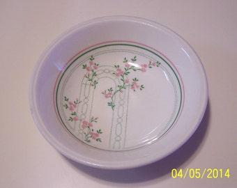Biltons of England Pink & Green Trellis Bowl