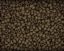 11/0 TOHO seed beads 10g Toho beads 11/0 seed beads Dark Copper 11-702 Opaque Frosted Matte beads