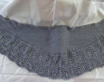 Summer-weight shawl for those cool summer/fall evenings