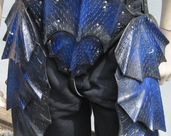 Leather Armor Dragon Scale Tassets and Cod Piece