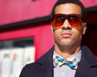 SALE! 2 colors to choose from, Pre tied or self tied Bow Tie Plaid collection