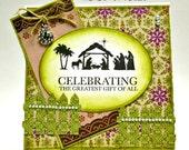 Religious Celebration Handmade Christmas Card