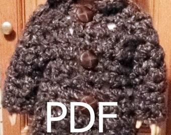 041 QUIK Crocheted Coat for American Girl doll