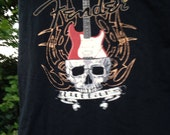 Fender Guitar tshirt tote bag in black with guitar and skull imagery