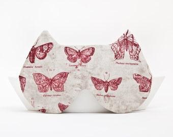 Bridesmaid gift, Sleep Mask Cat, travel accessories