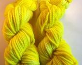 SALE Yowzers Yellow on Bulky SW Merino