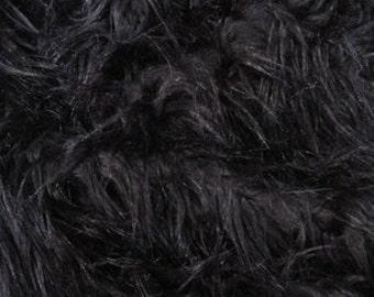 Half Yard Black Monkey Shag Fur