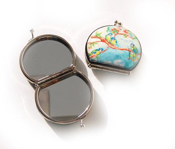 retro mirror,Birdgirl,birthday gift,gifts for her,gifts for mom,Woody Ellen handbag,christmas gifts,christmas gift ideas,new years gift,gift