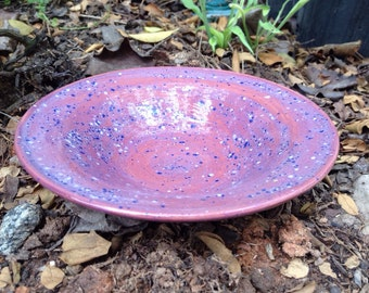 Purple bowl, ceramic bowl, shallow bowl, pottery bowl, ceramic pottey, clay bowl, ceramic dish