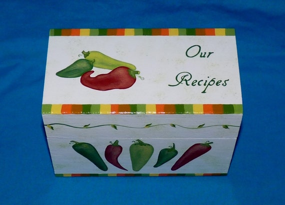 Decorative Recipe Boxes Entrancing Decorative Wood Recipe Card Box Personalized Recipe Card Review