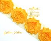 Shabby Flowers - GOLDEN YELLOW Shabby Rose Trim - Shabby Chic - Shabby Flower Trim - Diy Flowers