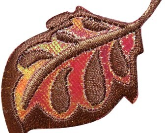 ID #7155 Shiny Oak Tree Plant Leaf Nature Embroidered Iron On Badge Applique Patch