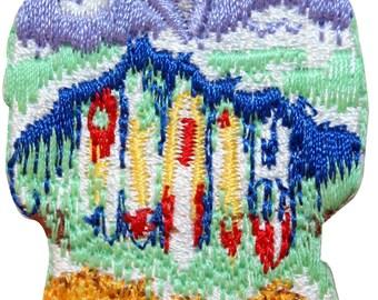 ID #7728 Hawaiian Aloha T-Shirt Tropical Embroidered Iron On Applique Patch