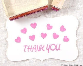 Heart & thank you 03 Rubber Stamp set