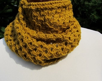 Mustard Infinity Scarf , Lace Design, Mustard Color, Lace Mustard Scarf, Mustard Cowl Scarf, Soft Openwork snood, gift for her (12)
