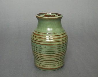 Green Carved Vase