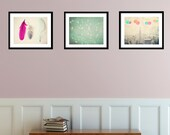 Dream Collection - set of 3 photographs - Whimsical Dreamy Home Decor - nursery room art - pastel colors