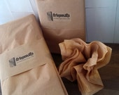 Kraft tissue paper - 10 sheets - 20 x 30 - brown tissue paper - gift wrap - recycled packaging