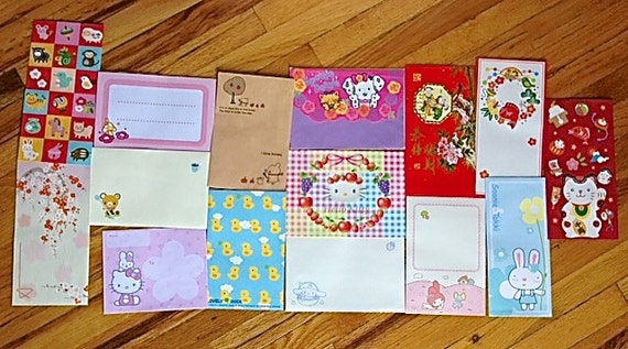 Kawaii Envelopes (Lot of 15)